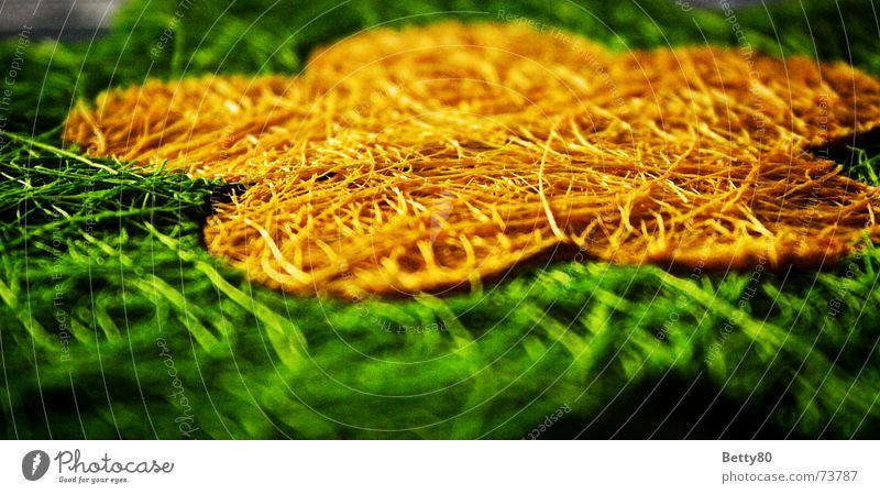 Kunstblümli Blume grün gelb Faser netzartig Kunstblume