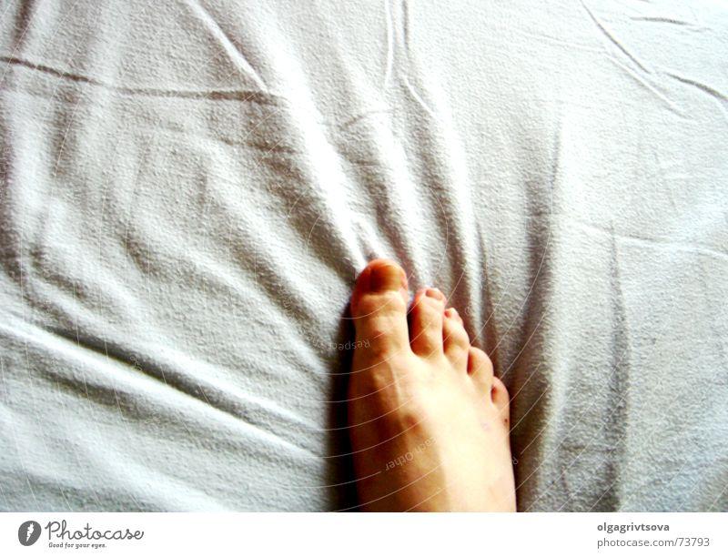Hot Fuss Mensch blau Fuß Zehen rechts Faltenwurf