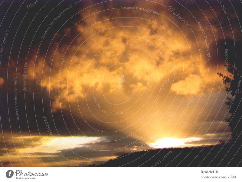 Das Licht Sonne Wolken gelb Wärme