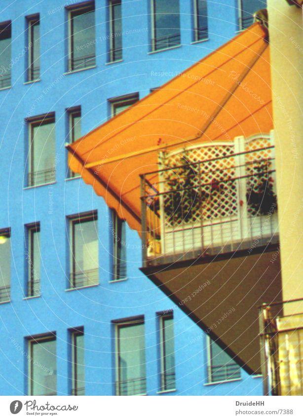 Balconien Hinterhof Architektur Hamburg Farbe Häusliches Leben