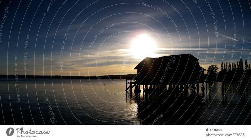 Stegen Wasser Sonne Herbst See Wärme Romantik Physik Nachmittag Sonntag Sonnenuntergang Ammersee