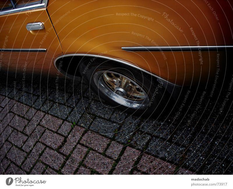 IN MEINEM HERZEN BRENNT BENZIN PKW orange Freizeit & Hobby Verkehr Bodenbelag KFZ Metall Kiste Griff Wagen Chrom Heck Holzleiste Fahrer Autofahrer Felge