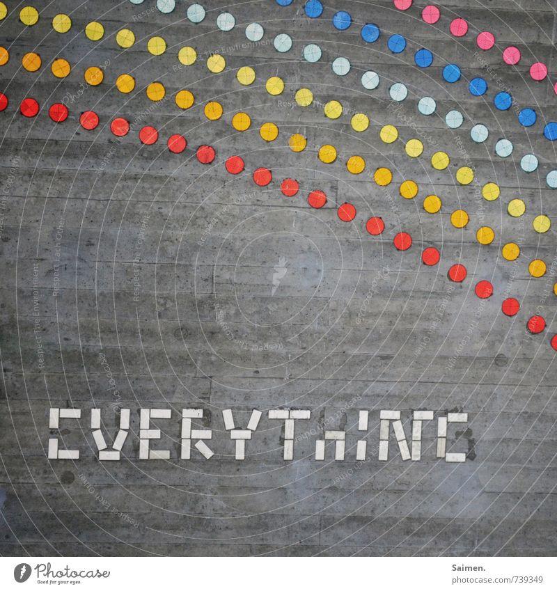 Hessentreffen 14 l ... is a rainbow Mauer Wand Zeichen Schriftzeichen außergewöhnlich dreckig mehrfarbig Stimmung Everything Punkt Beton Reflektor Regenbogen