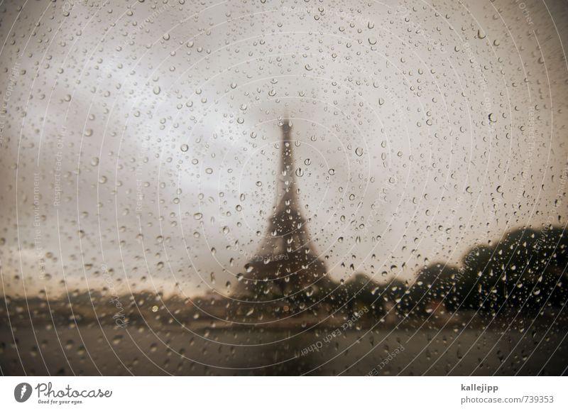 non, je ne regrette rien Stadt Hauptstadt Turm Bauwerk Gebäude Sehenswürdigkeit Wahrzeichen Denkmal Liebe Tour d'Eiffel Paris Autofenster Landkreis Regen Tränen