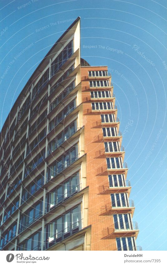 Spitze Haus Architektur Hamburg Farbe Himmel bauen