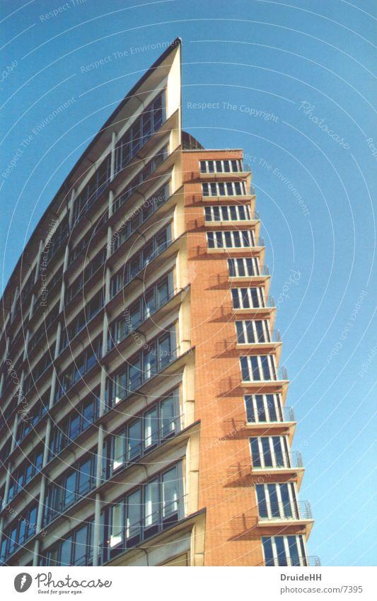 Spitze Himmel Haus Farbe Architektur Hamburg bauen