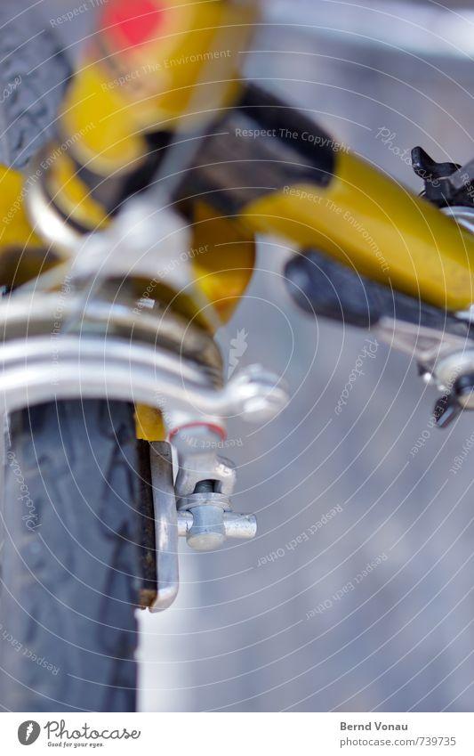 Bremsklotz Fahrrad Verkehr Personenverkehr alt retro schwarz Fahrradbremse Bremsschuh Rennrad Aluminium Reifen Hebelschalter Fahrradrahmen Schraube Mechanik