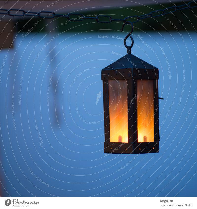 Laterne Ferien & Urlaub & Reisen blau ruhig orange Warmherzigkeit Kerze Laterne Nachthimmel Kerzenschein