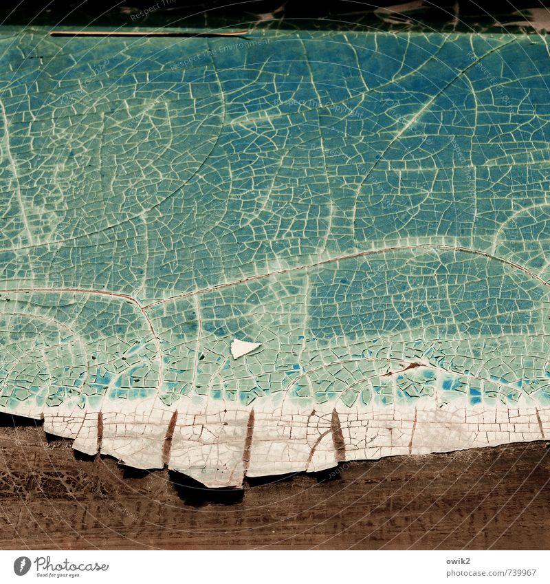 Schuppen Kunststoff alt dehydrieren trist trocken Verfall Vergänglichkeit Zerstörung Zahn der Zeit abblättern Riss verfallen Schaden kaputt porös Farbfoto