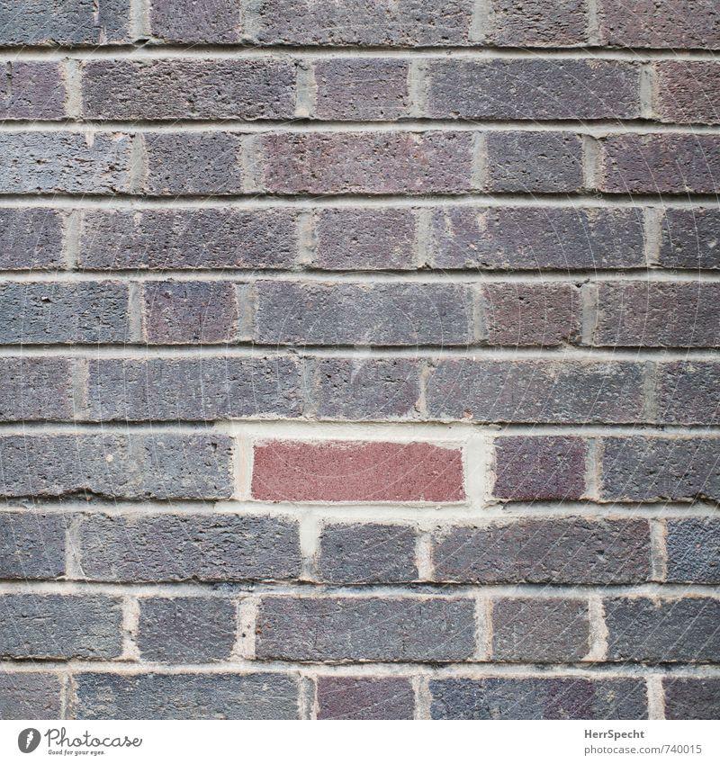 Flickwerk rot Haus Wand Mauer Gebäude Stein außergewöhnlich braun einzeln kaputt neu Teile u. Stücke Bauwerk Backstein Loch Renovieren