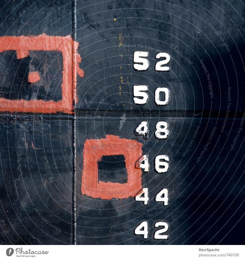 Malen mit Zahlen Antwerpen Belgien Hafenstadt Zeichen Ziffern & Zahlen rot schwarz weiß Schiffsrumpf Wasserfahrzeug Schilder & Markierungen Wasserstand Quadrat