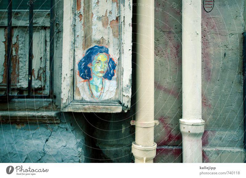 madamme Mensch Frau Jugendliche Junge Frau 18-30 Jahre Erwachsene Graffiti feminin Autofenster Kopf Kunst kaputt Kultur trendy Paris Röhren