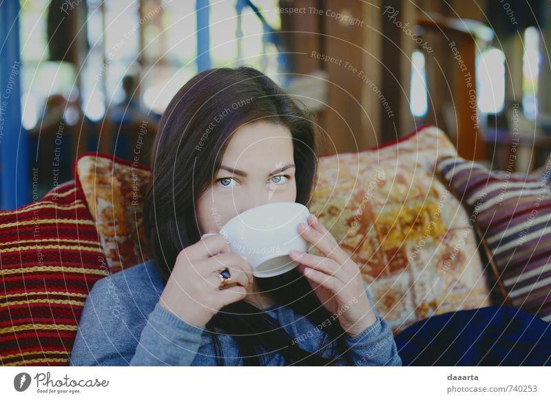 Teesonntag Tasse Becher Lifestyle elegant Stil Freude Gesundheitswesen Leben harmonisch Wohlgefühl Sinnesorgane Erholung Freizeit & Hobby trinken Mensch feminin