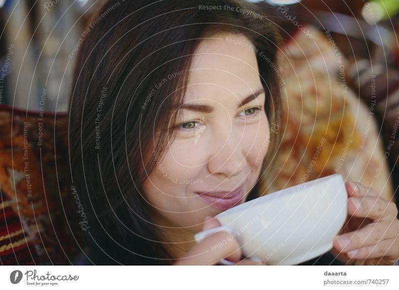 fröhlicher Tee Getränk Lifestyle Reichtum elegant Stil Freude Leben harmonisch Erholung Freizeit & Hobby Mensch feminin Junge Frau Jugendliche 18-30 Jahre