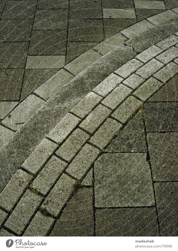 GEGEN DEN STROM | urban city stadt ground concrete trash Stadt Straße Stil Bewegung Stein Wege & Pfade laufen Fluss Bodenbelag Ziel Asphalt Tapete Quadrat