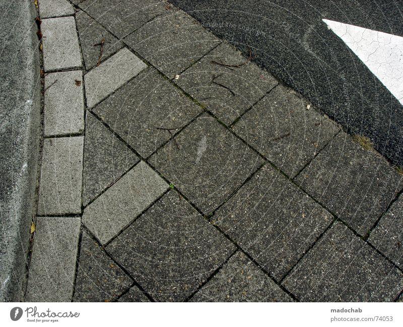 PLAN B - KOMPLIZIERTER | boden pattern muster grafik steine Muster weiß Stadt Straße Stil Bewegung grau Stein Wege & Pfade laufen Schilder & Markierungen Fluss