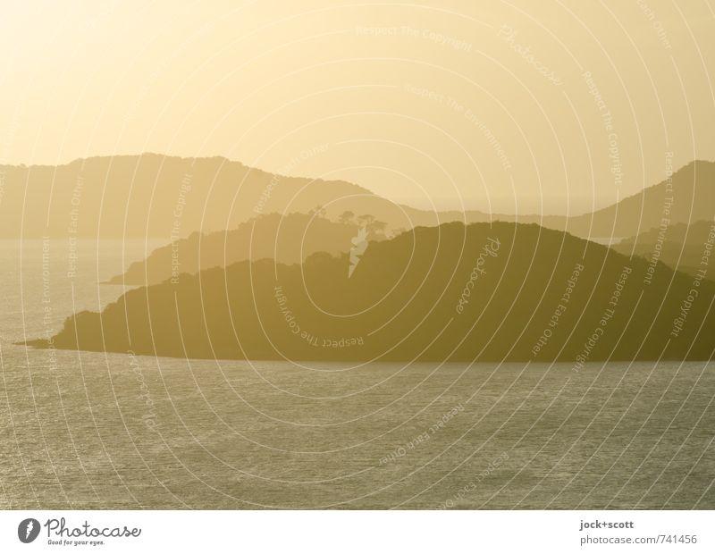 keep on dreaming Ferne Wärme Pazifik Insel exotisch Stimmung Geborgenheit Romantik Idylle Trauminsel tropisch Traumlandschaft Hintergrund neutral Abend