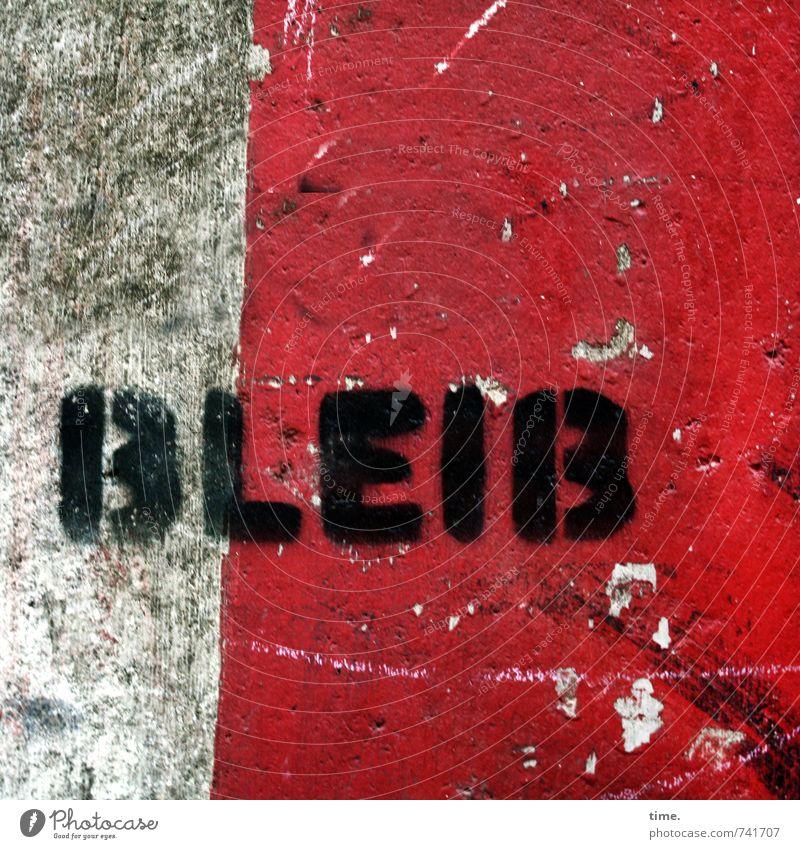 herz.haft | emotionaler Imperativ Mauer Wand Fassade Beton Schriftzeichen Graffiti kaputt Stadt Gefühle Leidenschaft Sympathie Zusammensein Romantik Begierde