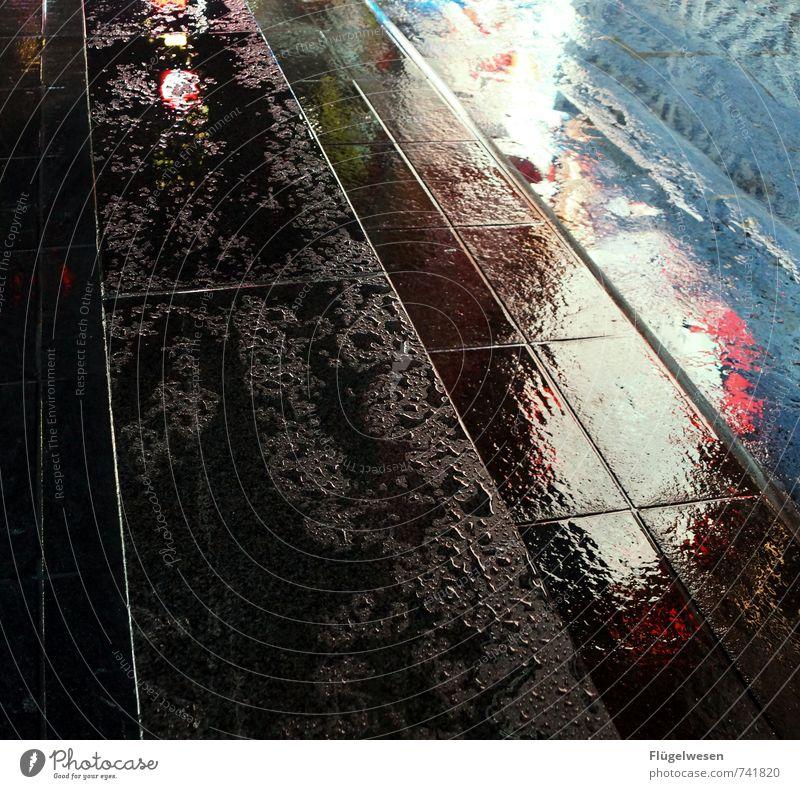 NYC Lights 6 Ferien & Urlaub & Reisen Tourismus Ausflug Stadtzentrum Stadtrand Skyline überbevölkert Jagd Landkreis Regen Stadt Regen Regenwasser Regenschirm