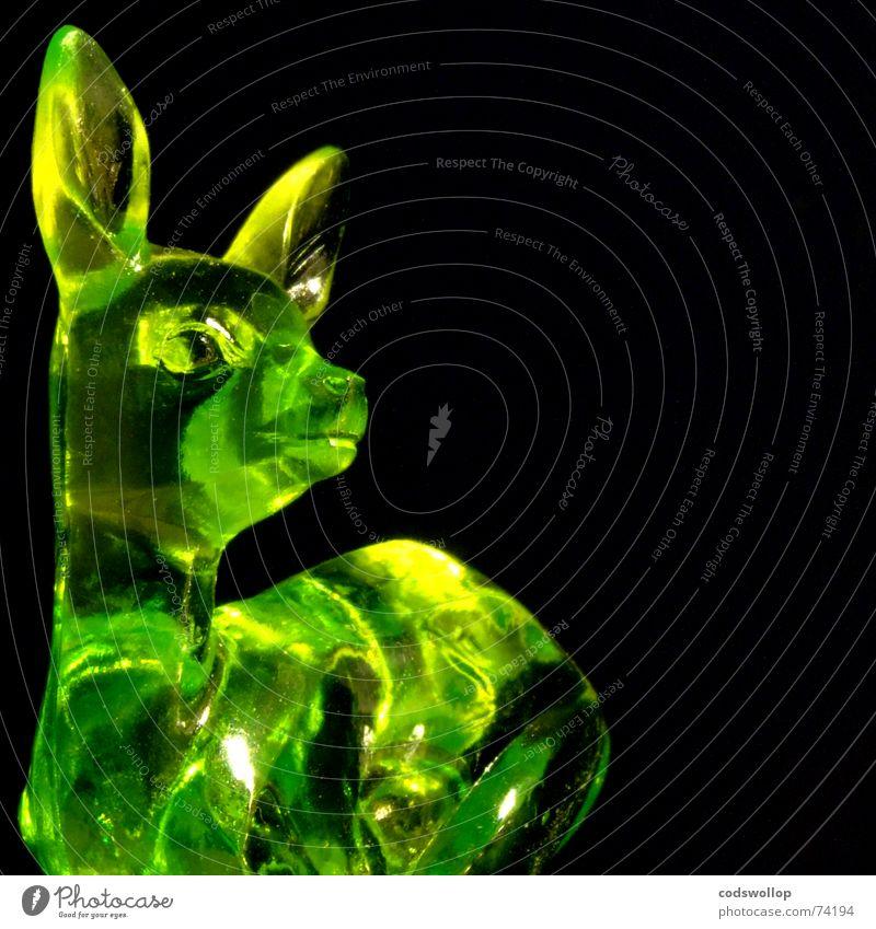 marco Stil Jagd Dekoration & Verzierung Natur Tier Wildtier Reh 1 Kunststoff Kitsch niedlich gelb grün schwarz Farbe Hirsche Statue Stöpsel jägermeister