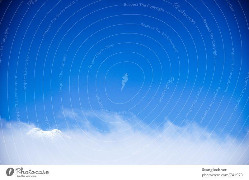 Nebel verschlingt berg Himmel Natur blau weiß Landschaft Winter Berge u. Gebirge Eis Schönes Wetter bedrohlich Frost Alpen Wolkenloser Himmel Österreich
