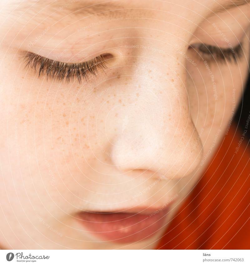 konzentriertes Kind Mensch maskulin Junge Kindheit Kopf Gesicht Nase Mund 1 8-13 Jahre beobachten Denken entdecken Blick warten Verschwiegenheit achtsam