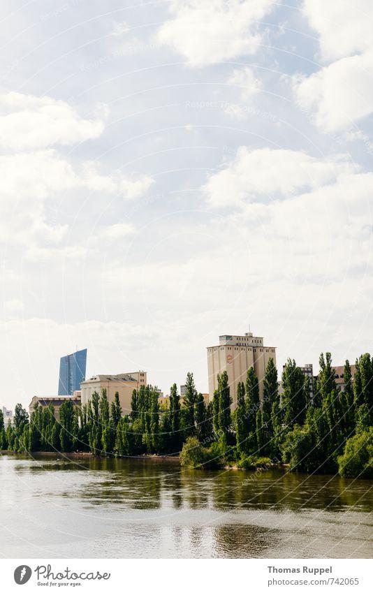 Hessentreffen 14 - Frankfurt im grünen Himmel Natur Stadt Pflanze blau Wasser Baum Wolken Wald Gebäude Deutschland Hochhaus Europa Schönes Wetter Fluss