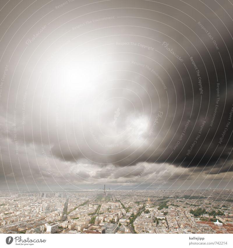 voyage voyage Himmel Stadt Wolken dunkel Architektur Gebäude Freizeit & Hobby Wetter Häusliches Leben Hochhaus Klima Turm Bauwerk Bankgebäude Unwetter Skyline