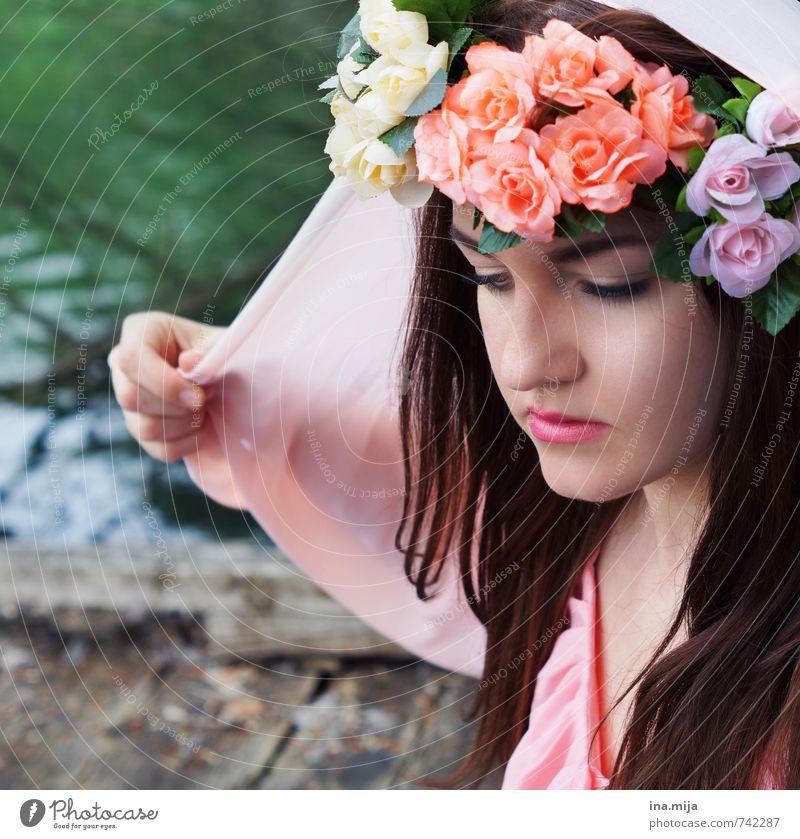 Frühlingsfee III Mensch Frau Kind Natur Jugendliche schön Wasser Pflanze Sommer Junge Frau 18-30 Jahre Erwachsene Umwelt feminin Stil