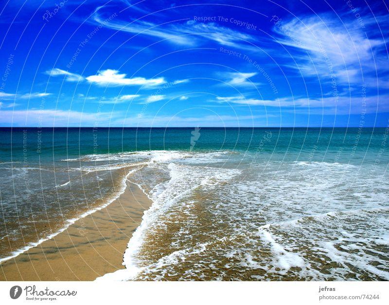 beach in the summer Strand Natur Himmel Sommer Ferien & Urlaub & Reisen blue bubbles clouds coastlines landscapes ocean sea skims sky swim vacations wave