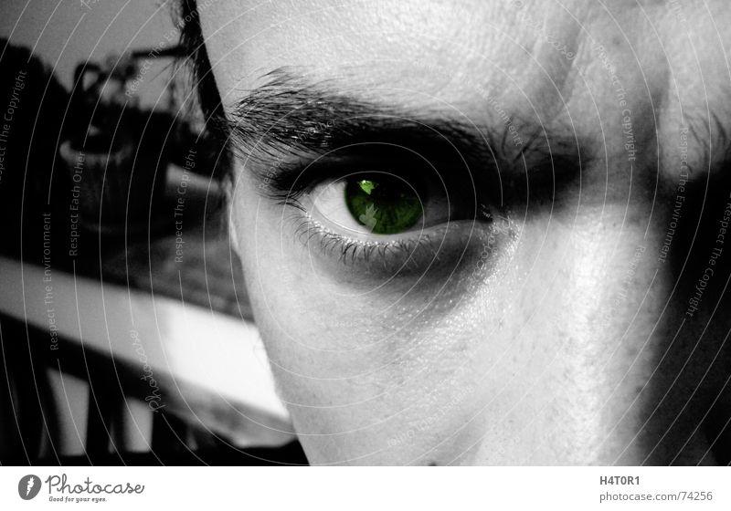You can't see, Jack böse Wahrheit Wut gefangen Nahaufnahme Makroaufnahme Auge Blick tief evil Wildtier Freiheit eye view deep truth angry