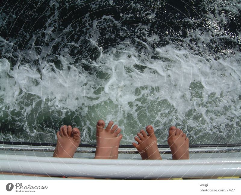 Füße Wasser Fuß Fähre