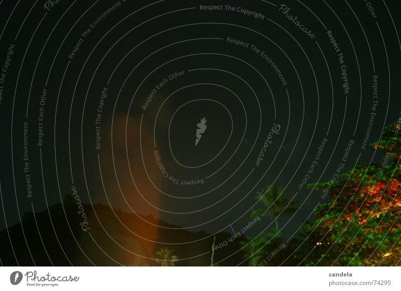 Ghost Himmel Baum Strand dunkel Berge u. Gebirge Bewegung Angst Kreis durchsichtig Geister u. Gespenster Versuch Thailand Stativ Milchstrasse Dauerlicht