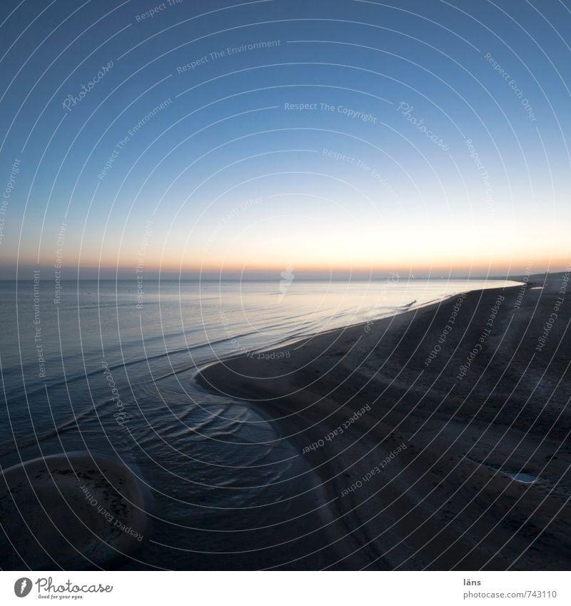möge das Meer mit dir sein Himmel Natur Ferien & Urlaub & Reisen blau Wasser Einsamkeit Erholung ruhig Landschaft Strand Winter Umwelt Wege & Pfade Küste Sand