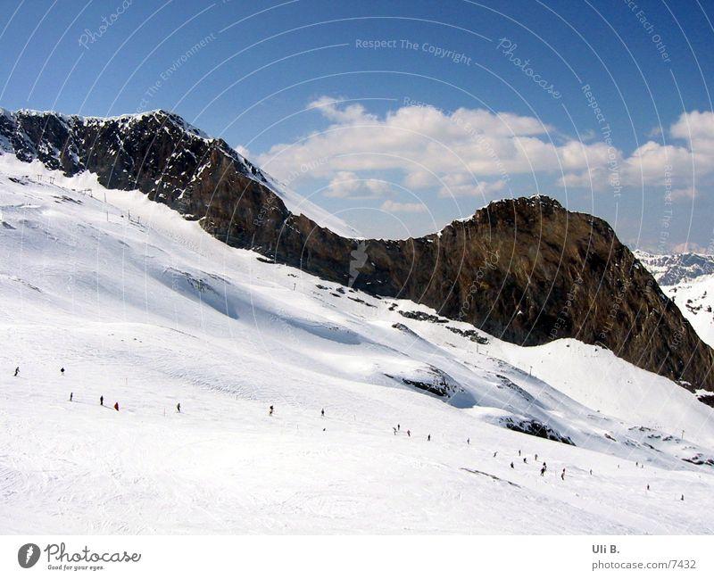 Gletscher Schnee Berge u. Gebirge Skifahren Gletscher