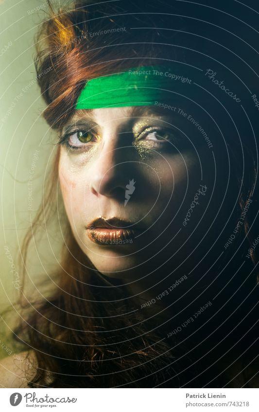 Rebellin Mensch Frau Jugendliche schön grün Junge Frau Erwachsene Gesicht Auge Leben Liebe feminin Stil Haare & Frisuren Gesundheit Kopf