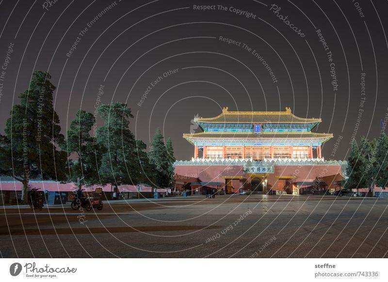 Nordtor Stadt Baum Frühling Park Stadtleben China Tempel Peking Verbotene Stadt Chinesische Architektur