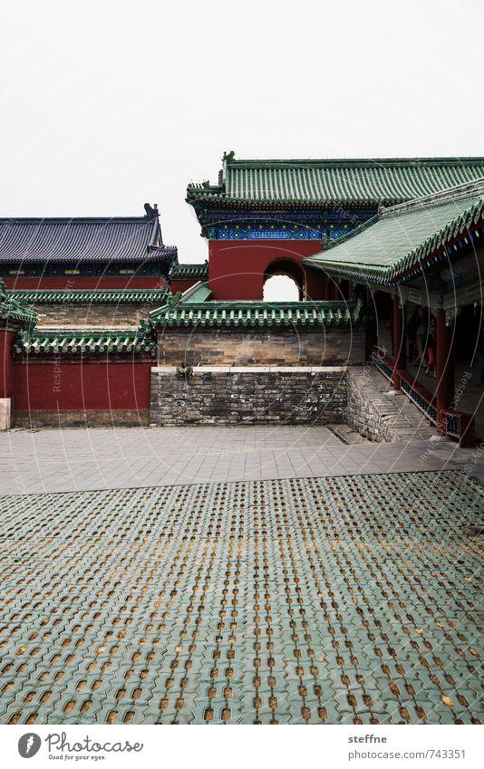 Tempelanlage Stadt Frühling Park Stadtleben China Peking Chinesische Architektur