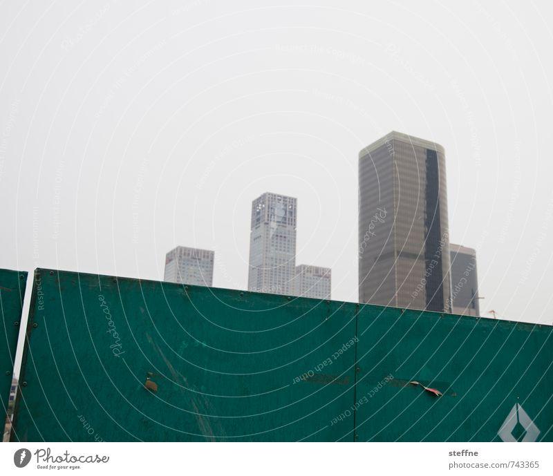 Rising High Stadt Stadtleben modern Hochhaus Stadtzentrum China überbevölkert Peking