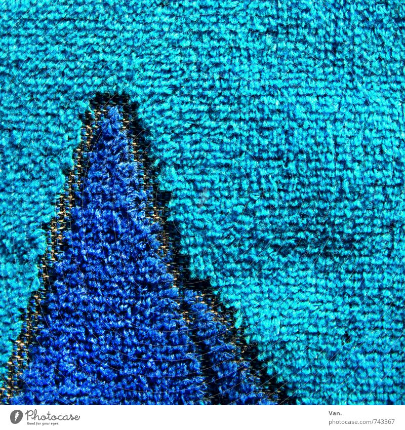 Frotteeberge Handtuch Frottée weich blau türkis Stoff Bad Waschen Farbfoto mehrfarbig Nahaufnahme Detailaufnahme Menschenleer Textfreiraum oben Tag
