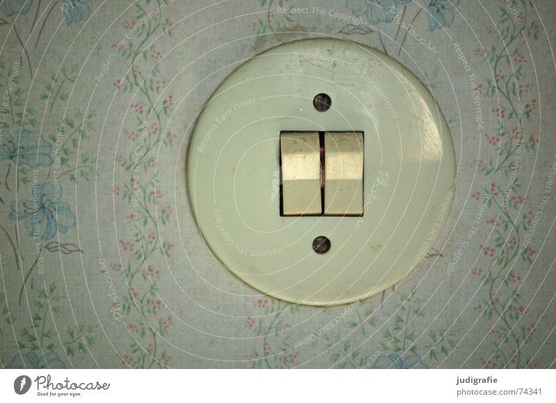 Es ist aus! II Dekoration & Verzierung Schalter 2 Wand Tapete Blume Elektrizität Doppelbelichtung Schraube Energiewirtschaft