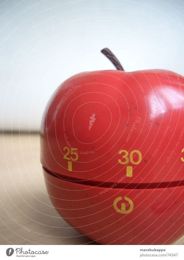 Die Zeit läuft ab rot Ziffern & Zahlen Apfel 30