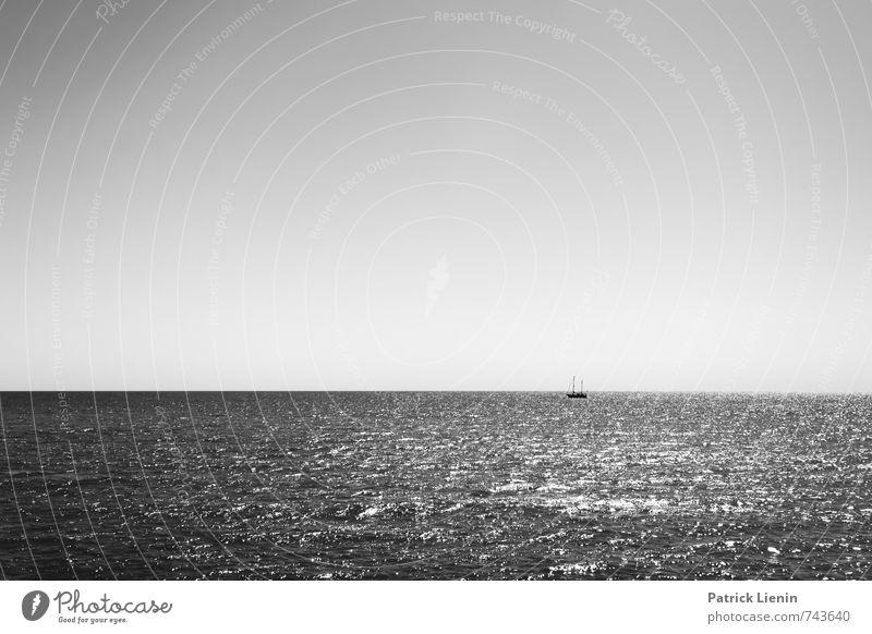 Segeltörn Himmel Natur Ferien & Urlaub & Reisen Wasser Erholung Meer Landschaft ruhig Ferne Umwelt Küste Freiheit Stimmung Wetter Zufriedenheit Wellen