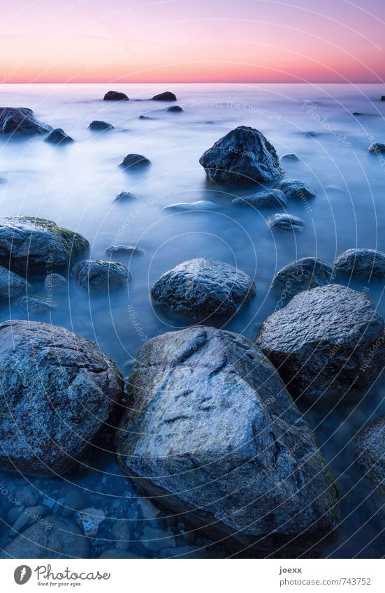 Steinweich Himmel Natur blau schön Wasser rot ruhig schwarz natürlich Stimmung rosa orange Kraft Nebel Idylle ästhetisch