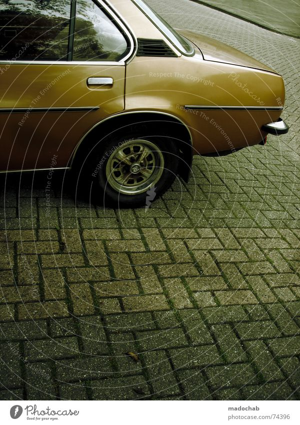 KLEIN BAD HERINGSHEIM PKW orange Verkehr Bodenbelag Griff Metall Chrom Heck Tuning Holzleiste Felge Kilometer pro Stunde Youngtimer Lufthutze