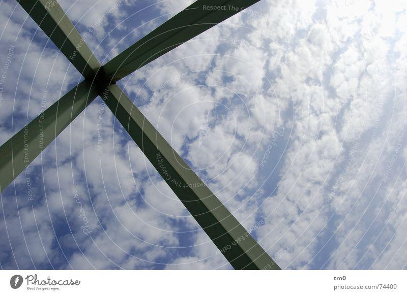 streben gen himmel Himmel Sonne blau Wolken Kunst Wetter Denkmal Skulptur ziehen strahlend Kanada Schiffsplanken Toronto