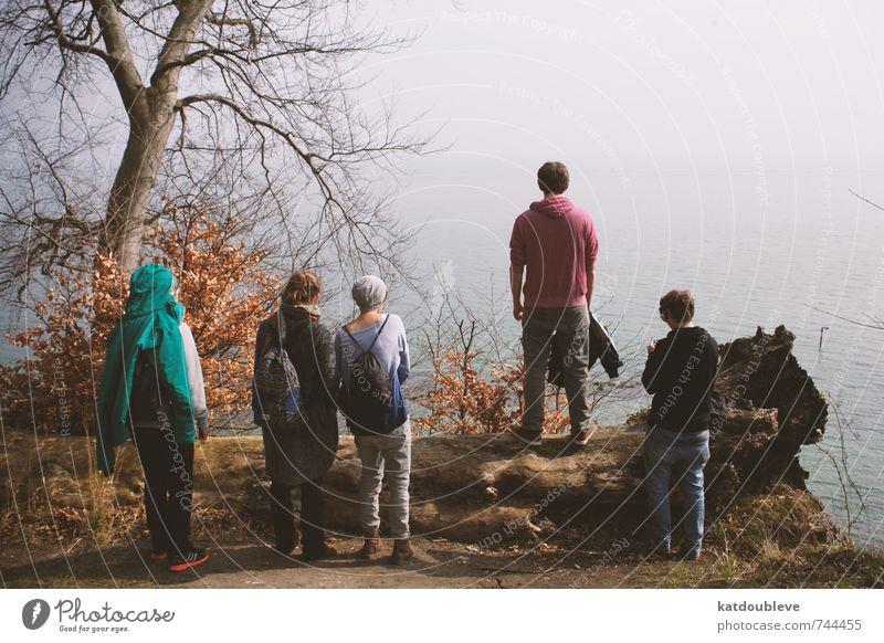 la mer Ferien & Urlaub & Reisen Wasser Erholung kalt Umwelt Traurigkeit Küste Denken oben Horizont träumen Freundschaft Nebel Idylle stehen authentisch