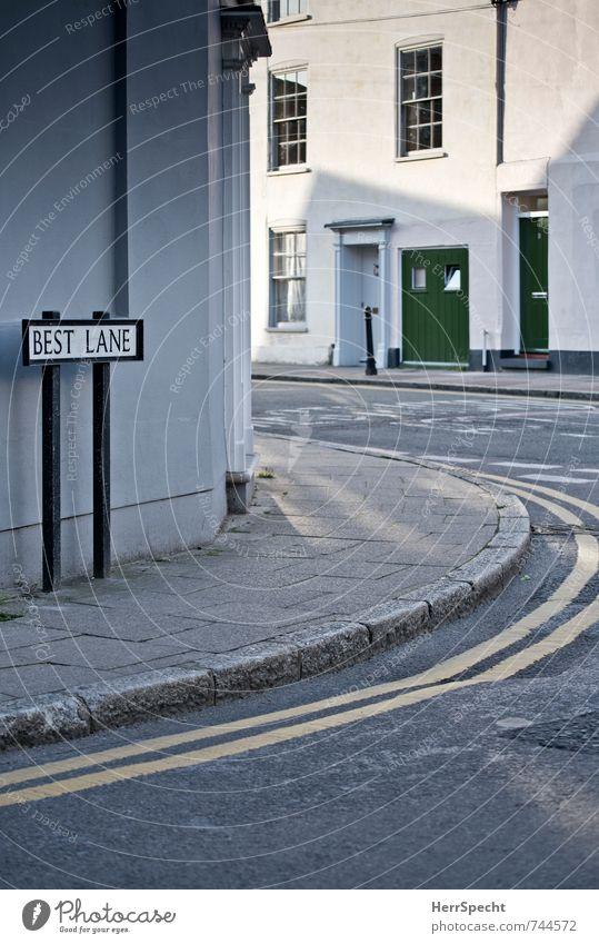 selbstbewusst England Großbritannien Stadt Haus Architektur Fenster Tür außergewöhnlich historisch grau weiß selbstbewußt Idylle Perspektive Wege & Pfade