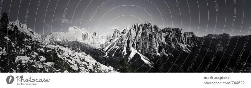 Naturpark Schlern-Rosengarten Catinaccio Ferien & Urlaub & Reisen Sommer Landschaft Ferne Berge u. Gebirge Freiheit Tourismus wandern Schönes Wetter Ausflug genießen Fitness Abenteuer Gipfel Alpen Schneebedeckte Gipfel