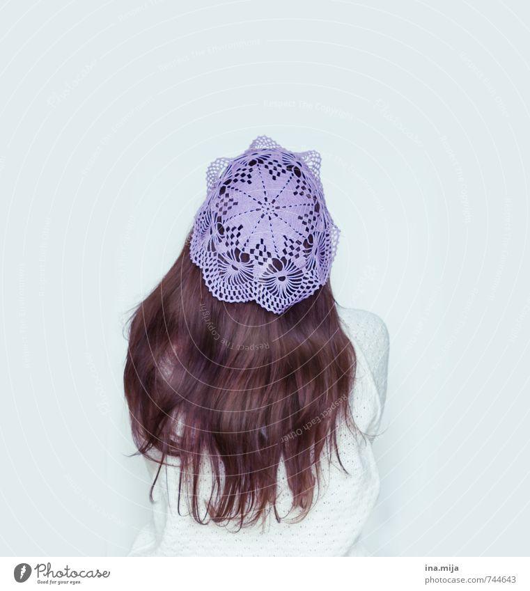 Häkelmütze Mensch Frau Jugendliche schön Junge Frau 18-30 Jahre Erwachsene feminin Haare & Frisuren Mode elegant ästhetisch Kreativität einzigartig Kitsch